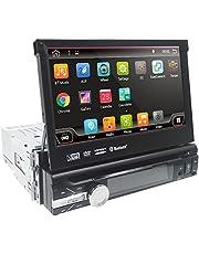 Android 10 universele radio 1 din autoradio 7 inch GPS auto navigator 2G RAM 32G ROM ondersteuning touchscreen WiFi Bluetooth MirrorLink stuurwielbediening RDS subwoofer achteruitrijcamera DAB+ DVR