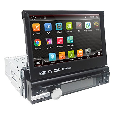 Android 7.1 Single 1 Din Car Stereo 7 Inch In Dash Radio New DVD Player...