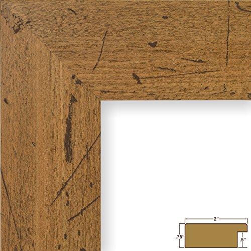 Craig Frames Bauhaus 200, Modern Rustic Light Walnut Picture