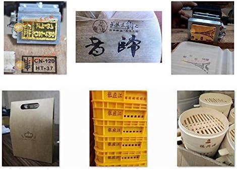 Caliente de mano máquina de estampación Manual impresora los pliegues de piel Logo marca marca Herramienta: Amazon.es: Juguetes y juegos