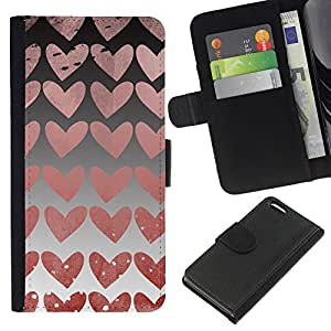 All Phone Most Case / Oferta Especial Cáscara Funda de cuero Monedero Cubierta de proteccion Caso / Wallet Case for Apple Iphone 5C // Hearts Wallpaper Pink Love Relationship