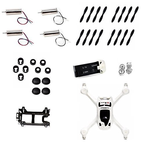 Hubsan X4 H107D+-13 Plus Crash Pack of Replacement Quadcopter Drone Parts - FAST FROM Orlando, Florida USA! by HobbyFlip by HobbyFlip