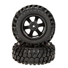 RC Car Tire Wheel Rim - SODIAL(R) 4Pcs 1/10 Climber Off-road Car Wheel Rim&Tire 210041 f Traxxas HSP Tamiya RC Car