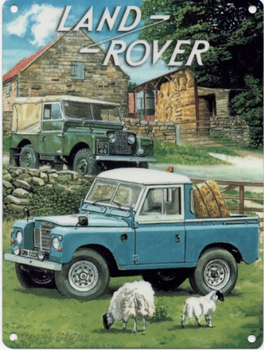 LAND ROVER Sign Metal Land Rover Sign Land Rover Art Land Rover Metal Sign Tin