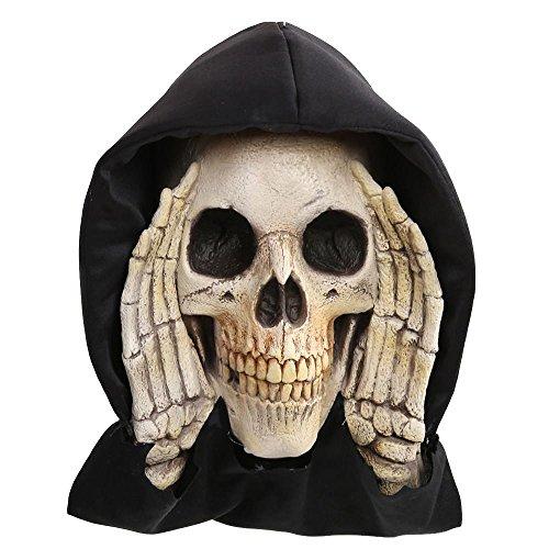 Halloween Scary Peeper Skeleton Skull Peeping Window Prop Decoration (Skull Halloween Prop)