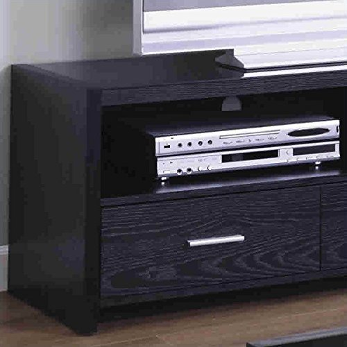 Coaster Black 61 Inch Contemporary Media Console with Shelves and Drawers by Coaster Home Furnishings (Image #1)