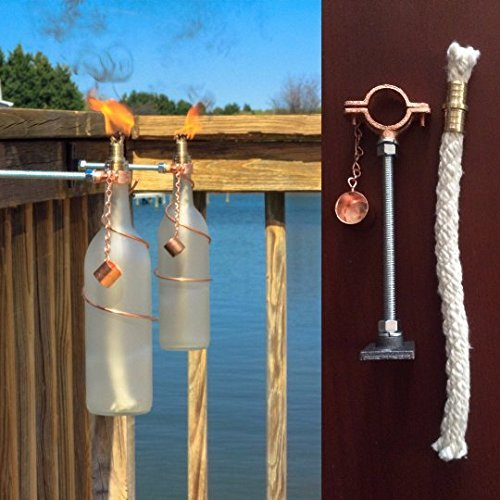 do it yourself outdoor lighting. One Bottle Tiki Torch HARDWARE ONLY KIT** - Gifts For Mom Do It Do It Yourself Outdoor Lighting