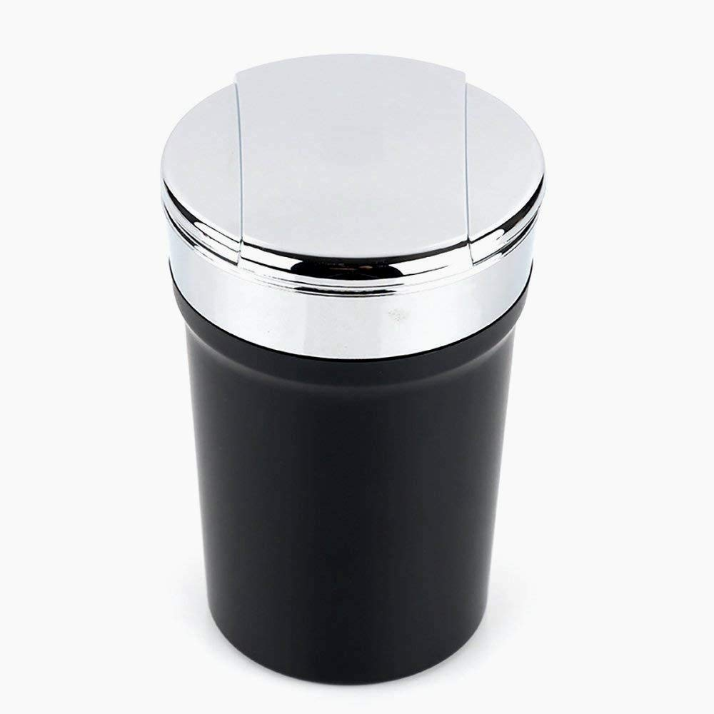 4 3.14 Beito Auto-Zigaretten-Aschenbecher mit Blauen LED-Licht Schwarz 2.36