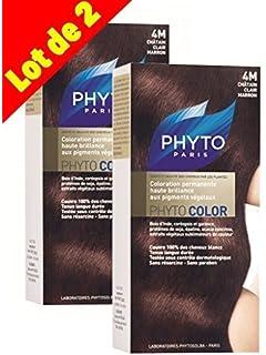 phyto color coloration soin permanente haute brillance aux pigments vgtaux couleur n 4m - Colorations Phyto