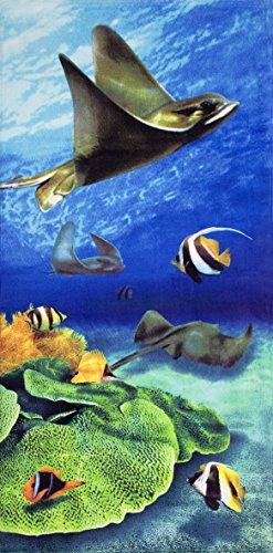 Stingray Velour Brazilian Beach Towel 30x60 - Origin Ray Name