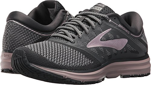 Brooks Women's Revel Grey/Ebony/Rose Gold 6 B - Ebony Rose