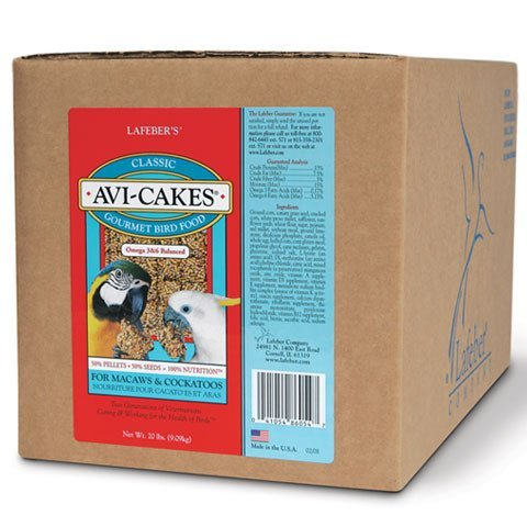 Lafeber Company Original Avi-Cakes for Macaws and Cockatoos, 20-Pound by Lafeber