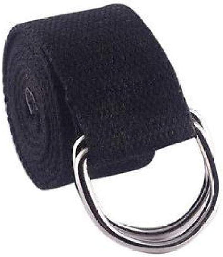 FidgetFidget Double Rings Waist Belts Buckle for Women Men Canvas Waistband Strap Casual Belts