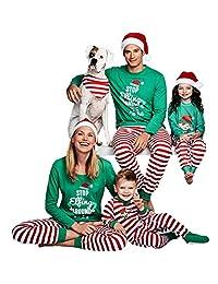MAIPOETYRY Christmas Holiday Family Matching Sleepwear Pajamas Set