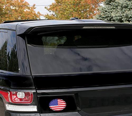 2 x Adesivi Vinile Ovale Bandiera Nazionale della America USA Stati Uniti per Auto Moto Finestr/ìno Scooter Bici Motociclo Tuning B 213