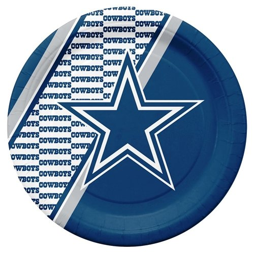 - Hall of Fame Memorabilia Dallas Cowboys Disposable Paper Plates