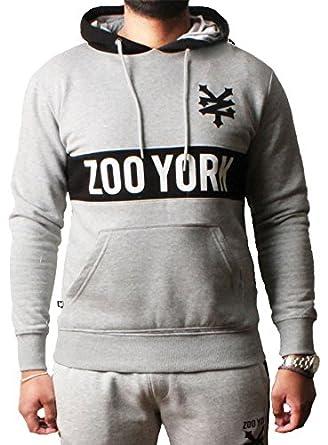 3256bdddc9bf Zoo York Men s Hoodie Pullover Printed Jumper Sweatshirt Jacket Top  Zipped
