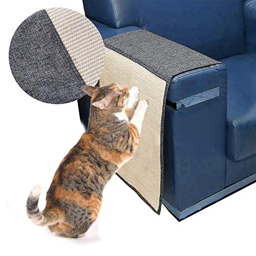 Urijk Cat Scratch Mat Sofa Shield, Cat Scratch Furniture Protector Cover for Couch Chair, Washable Durable Cat Scratching Pad to Prevent Furniture Scratching, 51 L x 18 W (Grey)