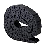 Mxfans 15 x 30mm R28Tank Chain Shape Style Flexible Wire Cable Chain Drag Track 1M