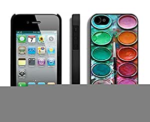 Element Apple iPhone 5c Black Case Durable Soft Silicone TPU Watercolor Sets With Brushes Art Phone Cover Accessories for Iphone 5c