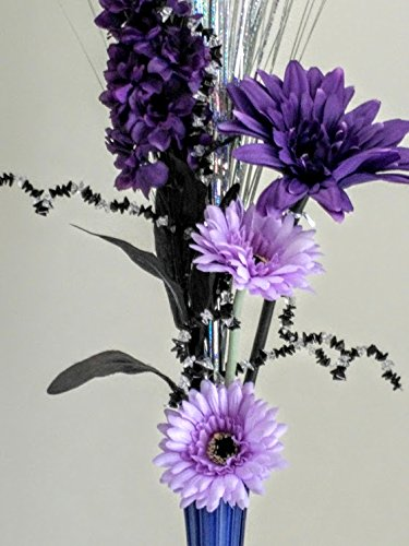 Purple lilac silk flower display with vase amazon kitchen purple lilac silk flower display with vase mightylinksfo