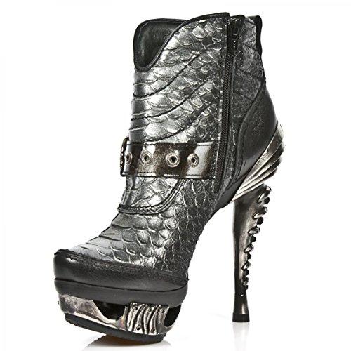 New Rock Støvler M.mag014-c10-gotiske Hardrock Punk Dame Stiefelette Sort n4eoDaIe1