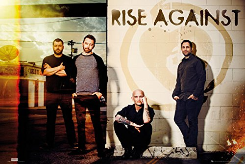 (POSTER STOP ONLINE Rise Against - Music Poster/Print (The Guys - Line Up) (Size: 36
