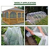 Agfabric 8'x20' Bug Net Insect Bird Netting, Garden Netting Protect Plants Fruits Flowers Against Bugs, Birds & Squirrels