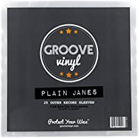Groove Vinyl 12 Inch Outer Record Sleeves (25 Pack)