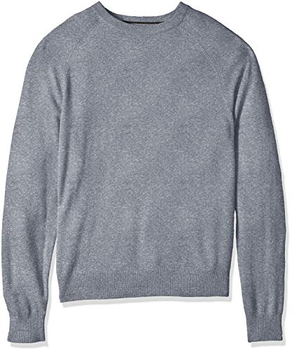 100% Premium Cashmere Crewneck Sweater, Grey, X-Large ()