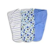 Summer Infant SwaddleMe Adjustable Infant Wrap, Graphic Car, Large, 3 Count