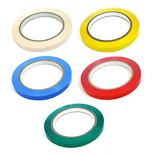 9mm GREEN Vinyl Sealing Tape Butchers Neck Sealer Tape Fruit Veg Food Sweets
