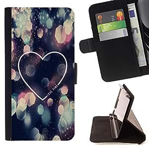 Momo Phone Case / Flip Funda de Cuero Case Cover - Amor Luces de la ciudad la noche del corazón minimalista - LG G4