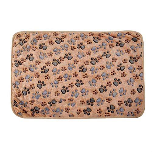 Comfortable Pet Bed Mats Sleep Flora Paw Print Dog Cat Puppy Fleece Soft Blanket Pet Dog Beds Mat for Pet Cat Small Dog ()