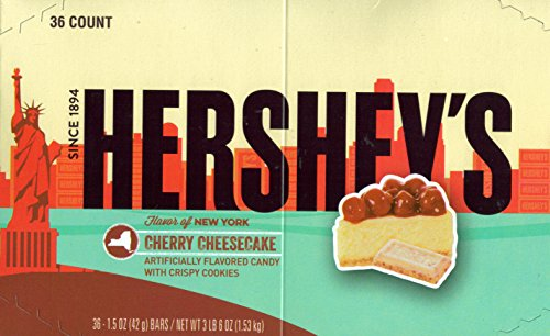 Hershey's Limited Edition Cherry Cheesecake Flavor Candy Bar - Kids Favorite Snacks - 1.5 Oz (36 ()