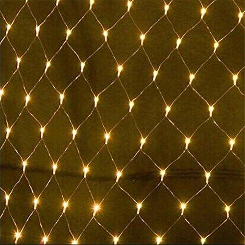 LIOUGHT 3*2M 192 Blanco cálido LED Malla Red de Luces de Cortinas de LED Brillante con 8 Modelos de Iluminación IP44 para...