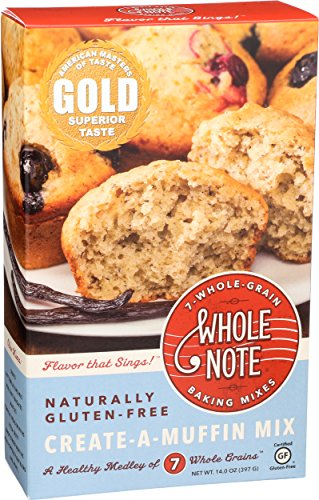 Whole Note 7-Whole-Grain, Create-A-Muffin Mix, Naturally Gluten-Free (Pack of 3) -