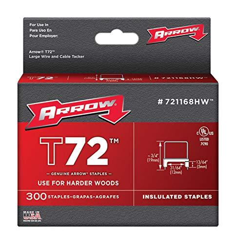 Arrow Fastener 721168HW 31/64'' T72 Hardwood Insulated Staples