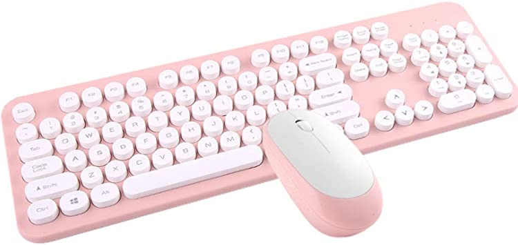 YPJKHM Juego de teclado inalámbrico y ratón con dibujos ...
