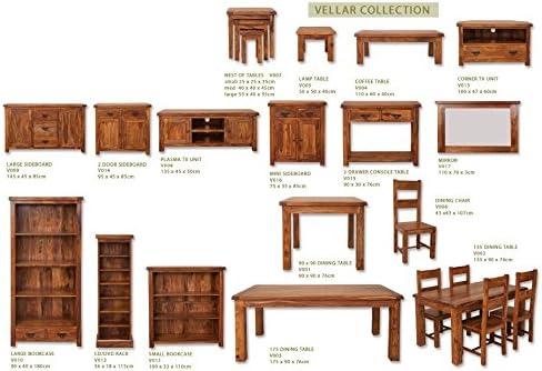 Vellar Living Indian Rosewood Mirror/Solid Sheesham Rosewood Mirror/Chunky Living Room Furniture
