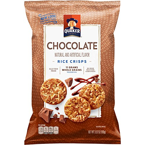 - Quaker Rice Crisps, Chocolate, 3.52 oz Bags, 12 Count (Packaging May Vary)