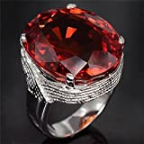 Fashion Jewelry Women Man 925 Silver 5.5ct Ruby Wedding Bridal Ring Size 6-10 (8)