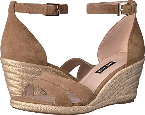 Nine West Women's Jabrina Espadrille Wedge Sandal Natural 6 M US ()
