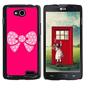 Paccase / SLIM PC / Aliminium Casa Carcasa Funda Case Cover - Pink Butterfly Pattern - LG OPTIMUS L90 / D415