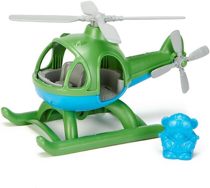 Greentoys- Elicottero, Colore Verde, GY-096 Verde