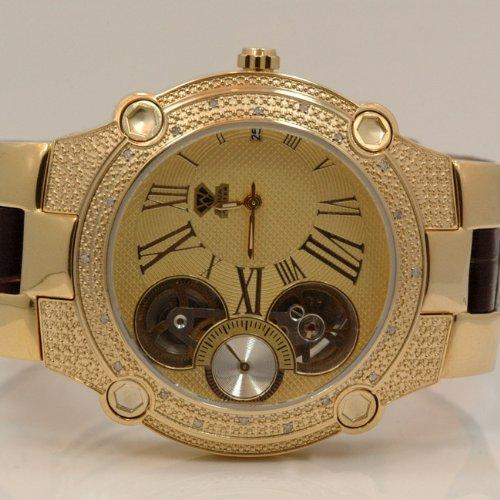 Aqua Master Mens Automatic Diamond Watch 0.20ctw W2124 by Aqua Master