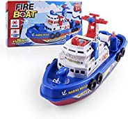 Jinhua Yiyan Bath Toy Boat , Pool Fire Boat Marine Ship Model Bath Water Toy Set Summer Toys, Birthday Gift fo