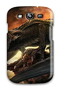 Tpu Case Cover For Galaxy S3 Strong Protect Case - Taking A Dinosaur Picture Design