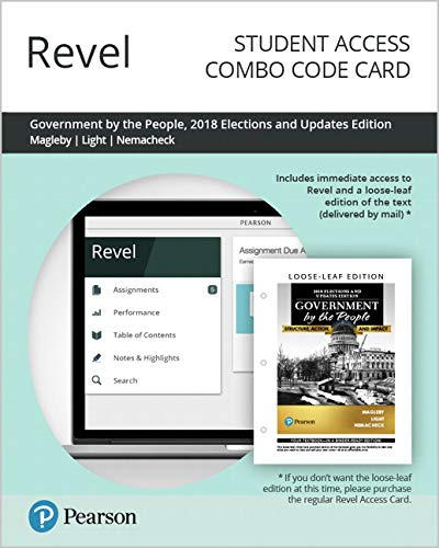 Revel for Government By the People, 2018 Elections and Updates Edition -- Combo Access Card (26th Edition)