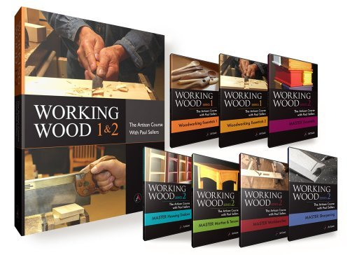 (Book + 7-DVD Set) Working Wood 1 & 2: The Artisan Course with Paul Sellers. by Artisan Media